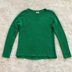 Madewell Wallace Kelly Green Sweater Wool S